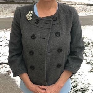 J.Crew Wool/Cashmere Cropped Peacoat! EUC!